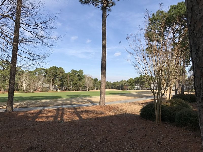 View up the 2nd fairway towards the tee box