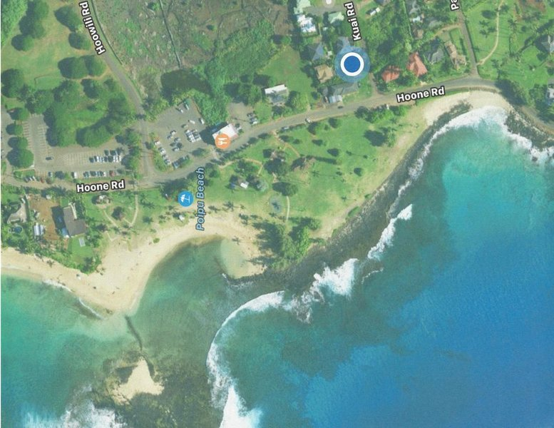 A/C Oceanfront view of Poipu beach. 15 Point Cleaning Pledge -, vacation rental in Poipu