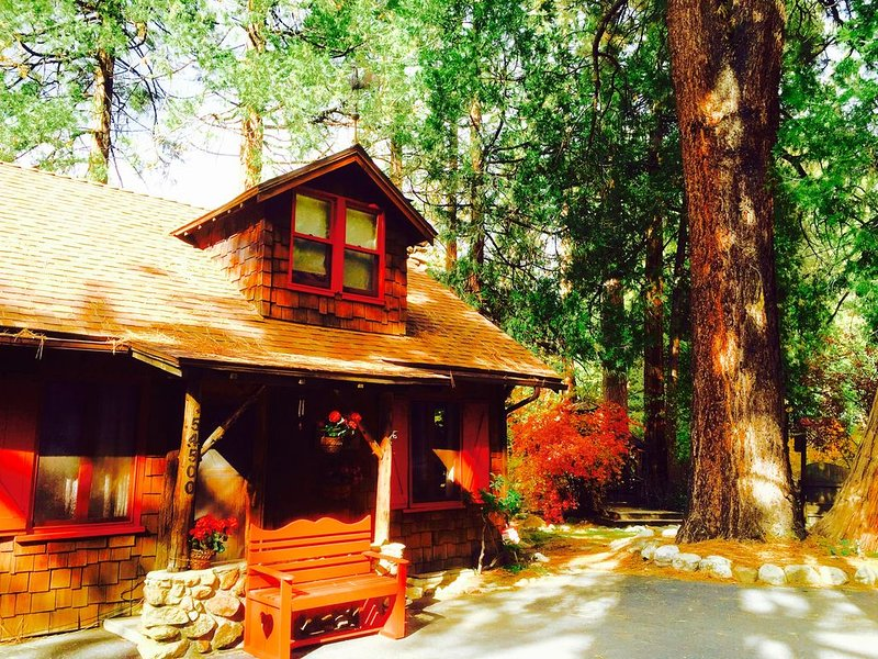 5 STAR **STRAWBERRY CORNER** CLASSIC CABIN ON CREEK, 1 MINUTE WALK TO VILLAGE!, alquiler de vacaciones en Idyllwild