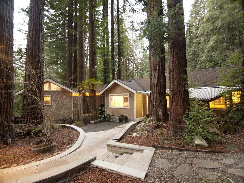 Cozy Cabin the heart of the Santa Cruz mountain Redwoods, location de vacances à Boulder Creek