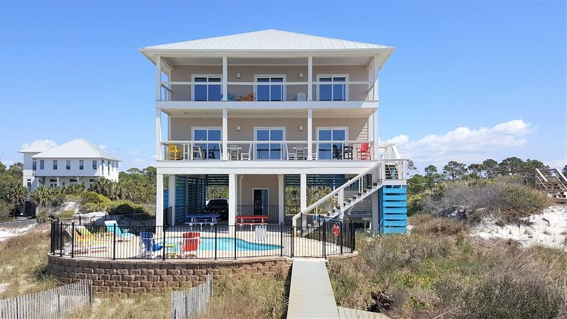 Gulf Front, private saltwater pool, North cape near state park, alquiler de vacaciones en Cape San Blas