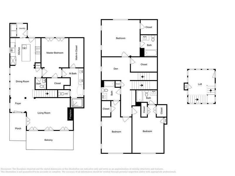 Floor Plan - This floor plan is an approximation and may not include the most recent information.