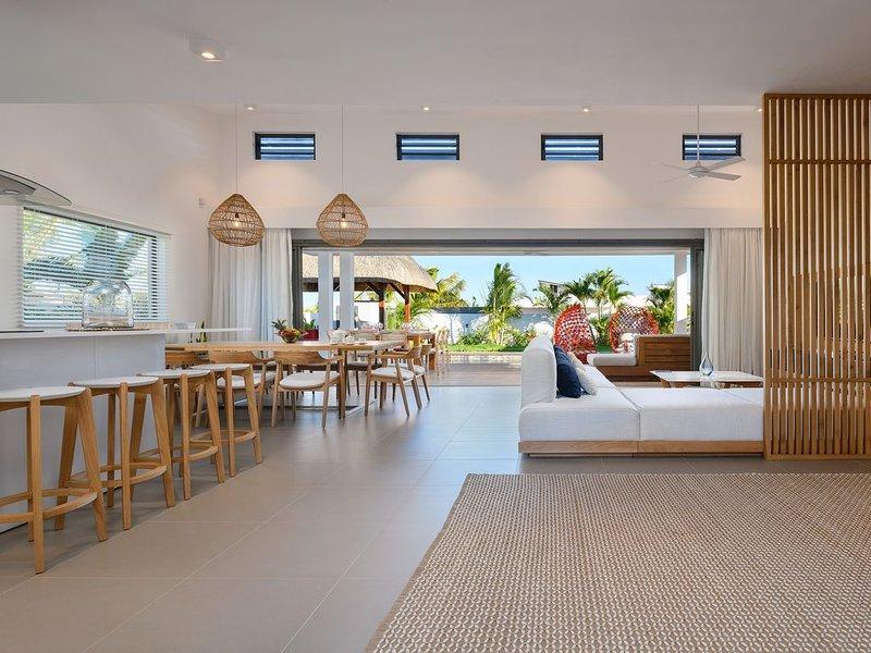 Villa 5* avec services - Lagon et Golf à proximité, aluguéis de temporada em Mapou