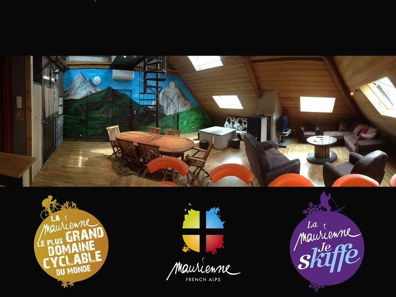 Appartement climatisé 12/16 personnes Label Cyclo-Maurienne, location de vacances à Saint-Etienne-de-Cuines