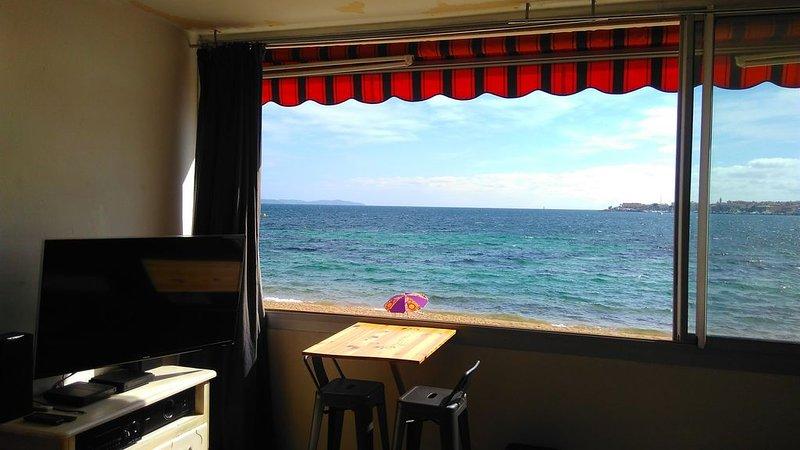 Appartement 40m² posé sur la plage. Possibilité voiture, vacation rental in Mezzavia
