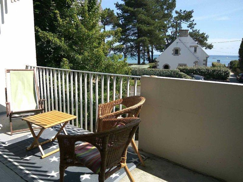 Plage Beaumer Carnac, appartement vue mer, location de vacances à La Trinite-sur-Mer