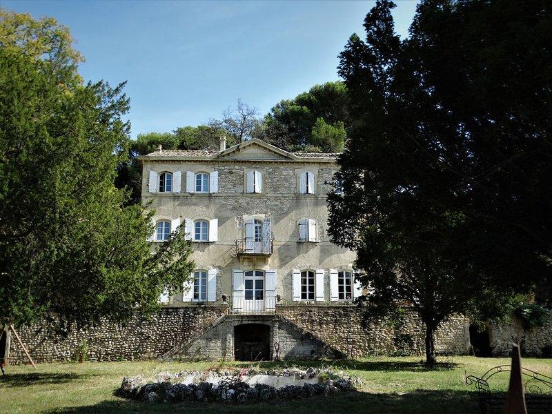 Chateau de charme avec piscine dans un écrin de nature en Provence, vacation rental in Valreas