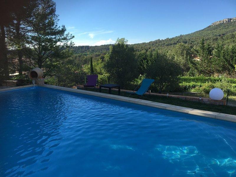 BELLE VILLA AVEC PISCINE à 10 minutes d' Aix en Provence, holiday rental in Saint Antonin sur Bayon