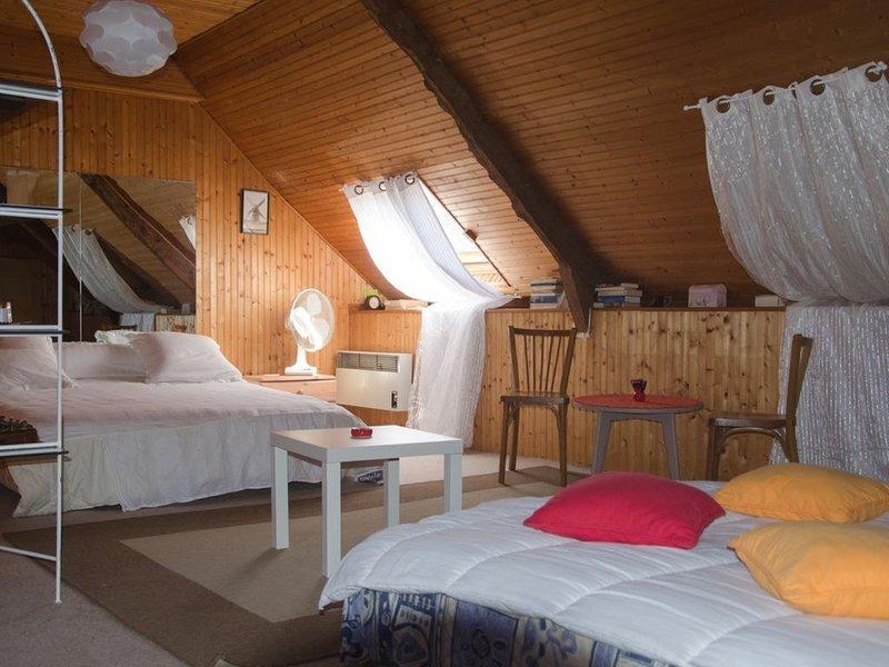 Chambres (familliale) spacieuses de 35 m2, alquiler de vacaciones en Sulniac