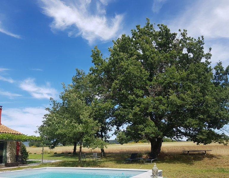 Maison de charme classé 4 étoiles dans Parc Naturel Régional Protégé du Luberon, holiday rental in Roussillon