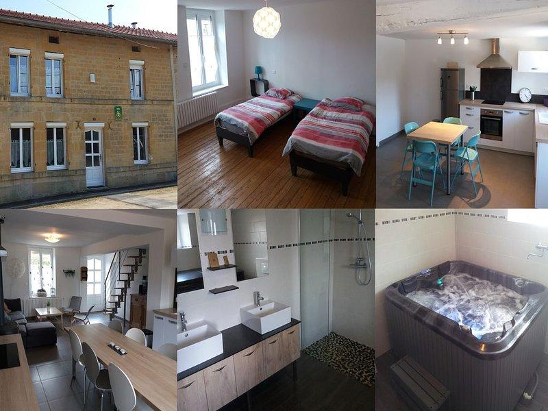 Gîte 10 places, tout confort avec spa et cheminée, vacation rental in Le Chesne