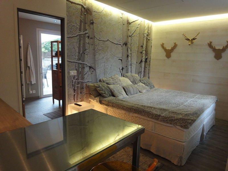 Studio de Luxe avec Sauna et Spa pour un séjour de détente à proximité de Paris, holiday rental in Rueil-Malmaison