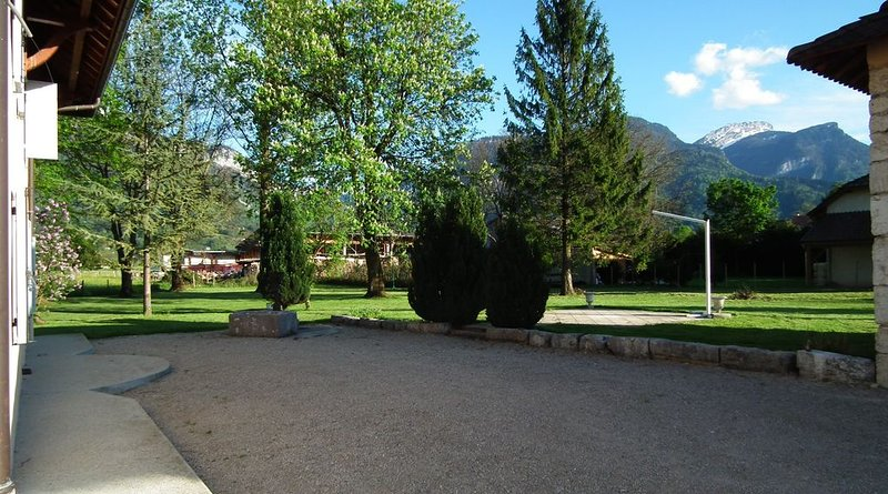 the yard and the park
