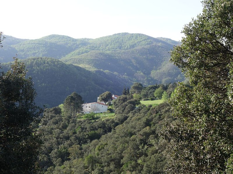 Location Céret dans Mas Catalan (90m2), très belle vue montagne, terrasse 100m2,, holiday rental in Les Hauts de Ceret