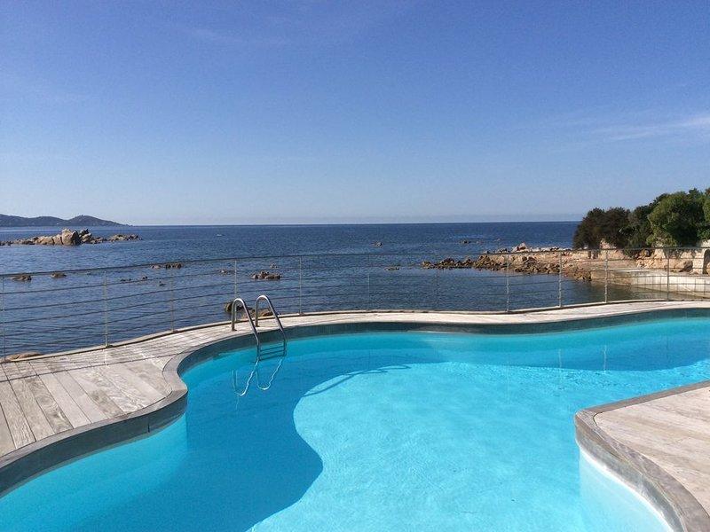 Spacieuse villa pieds dans l'eau à l'isolella avec plage et ponton privatifs, location de vacances à Pietrosella