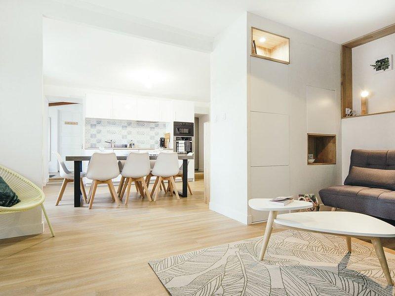 Maison Méan : 100m2 3 chambres 8 personnes vue bucolique proche mer et centre, holiday rental in Donges