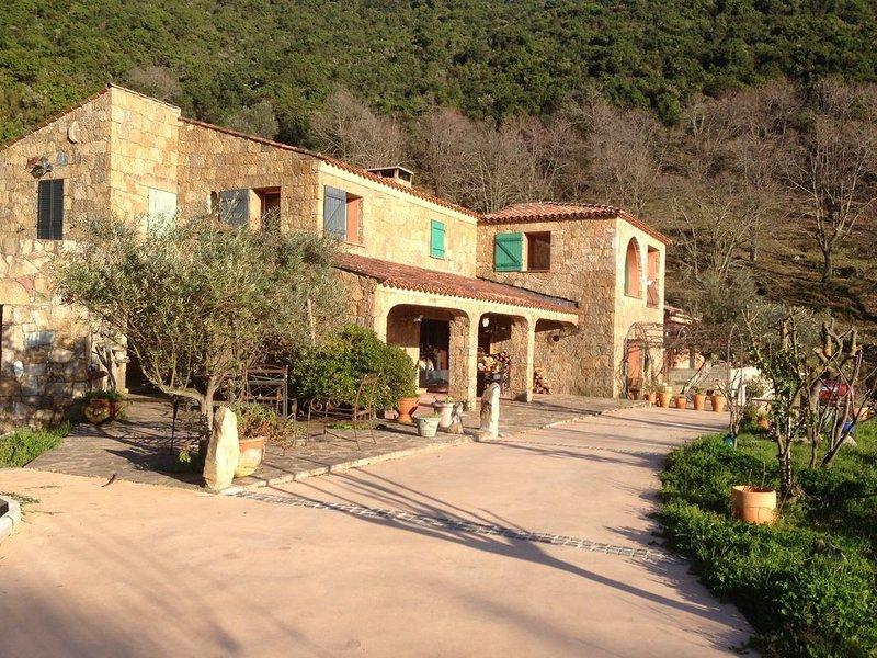 grande maison  de  300 m2 avec piscine vue mer, location de vacances à Valle-di-Mezzana