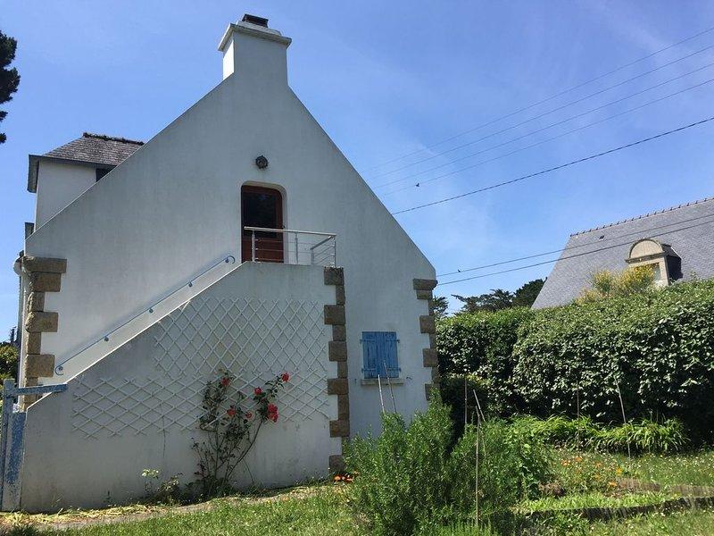'Les secrets du Petit Rohu' - Vue Mer - 2ch, jardin & plage  à 30 mètres, holiday rental in Saint-Pierre-Quiberon