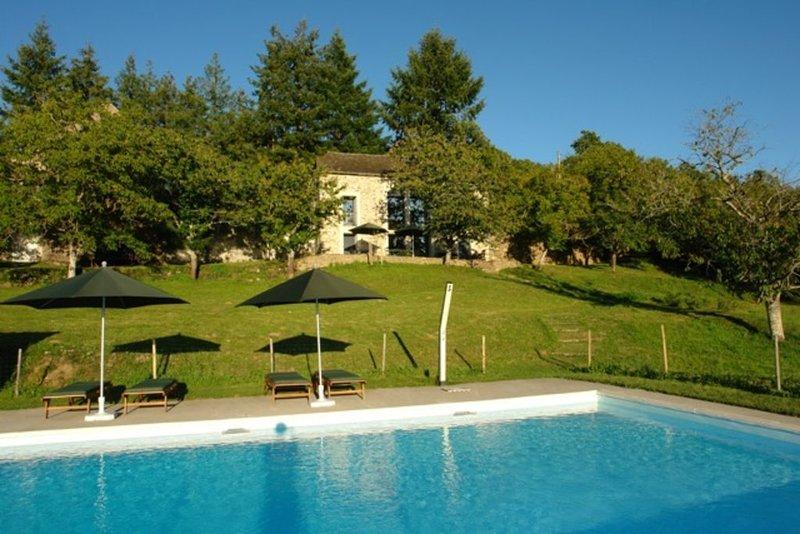 'La Maleyrie' Belle maison de vacances et grande piscine à usage exclusif, holiday rental in Montirat