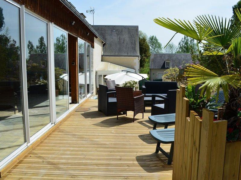 Gîte de la Merluchette avec piscine couverte - 4 étoiles, location de vacances à Pocé-sur-Cisse
