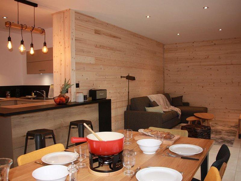Appartement spacieux de 95 m2 à Morillon Village avec garage privé., Ferienwohnung in Morillon