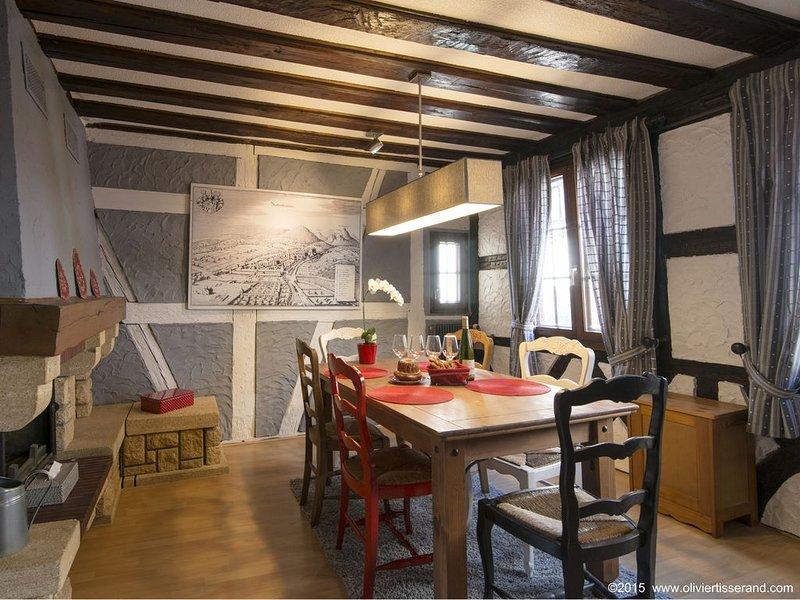 Beau gîte Alsacien , Les Marchands au centre de Ribeauvillé en Alsace, holiday rental in Ribeauville