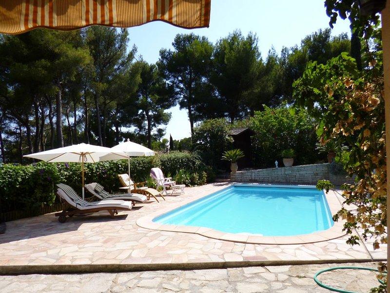 CARQUEIRANNE APPARTEMENT  AVEC PISCINE  A  2MN DE LA PLAGE, holiday rental in Carqueiranne
