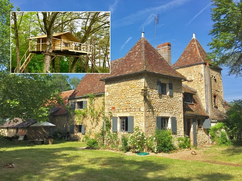Comfortable French Manor + a great treehouse in a protected natural area., location de vacances à Ingrandes