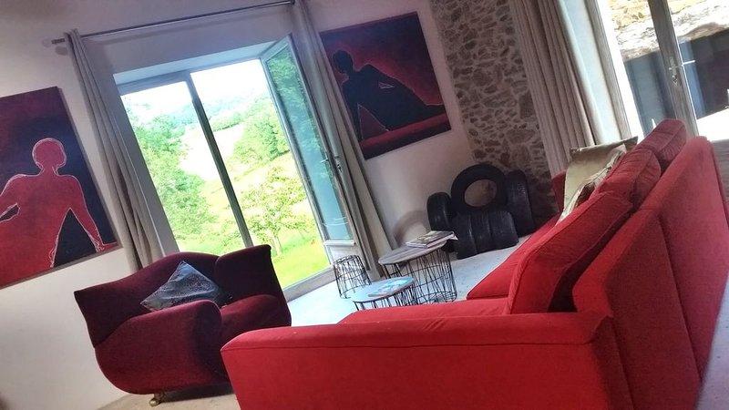 Superbe Loft atelier d'artiste dans vieux moulin calme des Monts du Lyonnais, holiday rental in Courzieu
