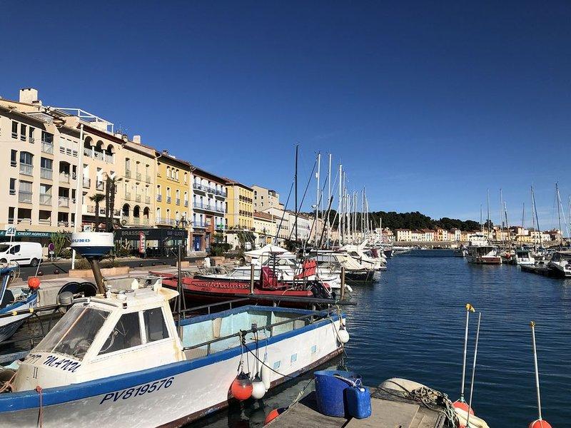 MAISON VUE PORT 2 CHAMBRES 2 SDB TERRASSE ET GARAGE, alquiler de vacaciones en Port-Vendres
