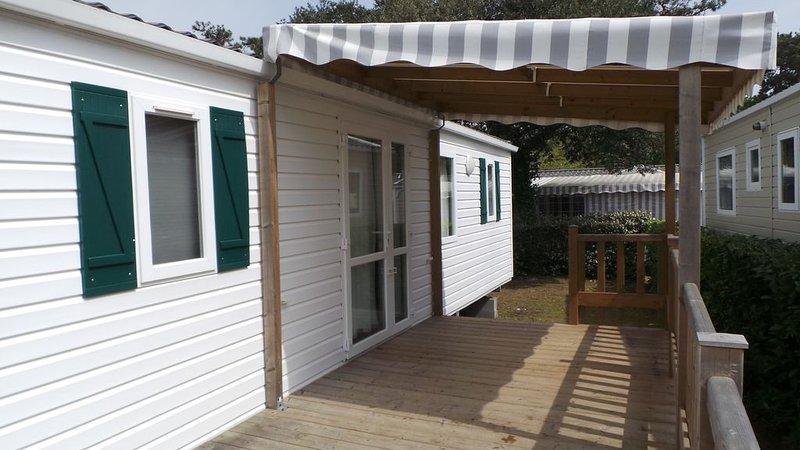 Location Mobil-home 6/8 personnes dans camping 4* LA PIGNADE, vacation rental in La Tremblade