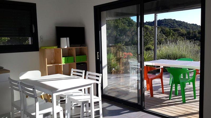 Très bel appartement neuf rez de jardin vue mer, casa vacanza a Pila-Canale