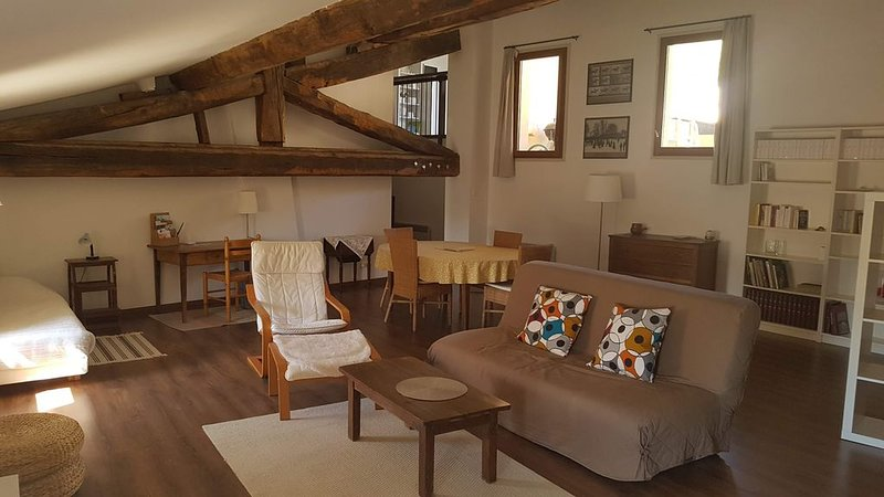 Beau duplex avec terrasse au coeur de Sommières, holiday rental in Saint-Christol