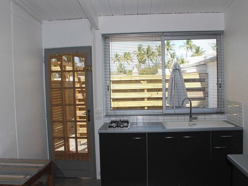 A 300m du lagon, T1 dans petite résidence nichée dans un jardin tropical, location de vacances à La Saline les Bains