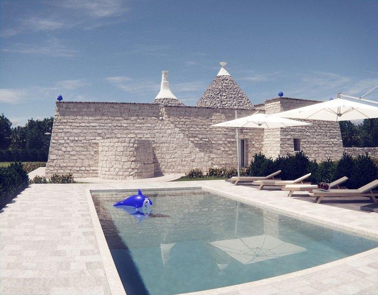 Trulli della Sierra: une propriété de TM INVEST .Trulli haut de gamme vue mer, holiday rental in Selva