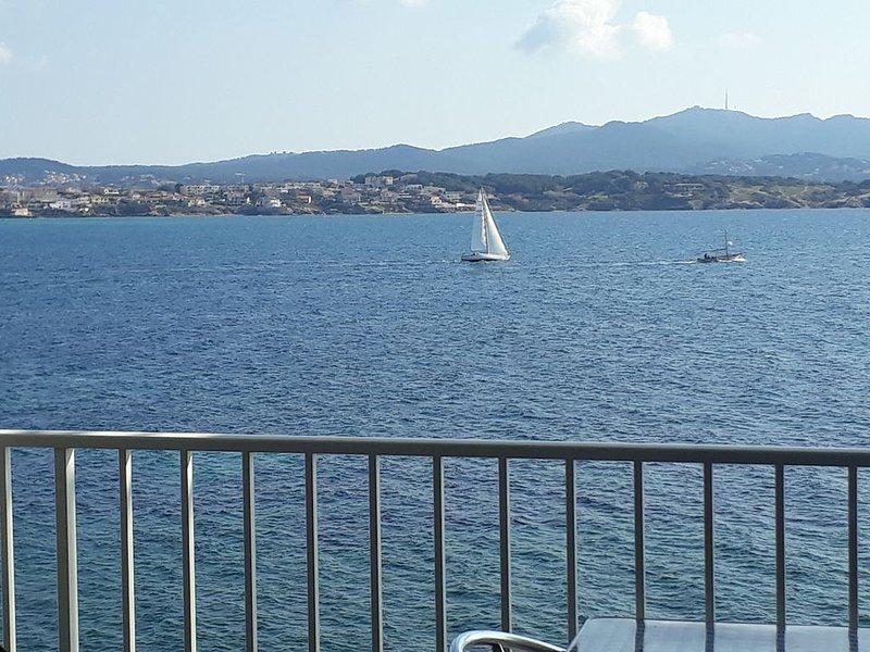 Appt T3 magnifique vue en front de mer, calme 5 pers à 5 mn du port et commerces, location de vacances à Sanary-sur-Mer