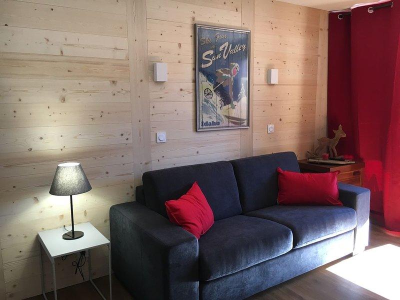 Val Thorens,  pieds des pistes , refait à neuf  et Parking inclus, aluguéis de temporada em Val Thorens