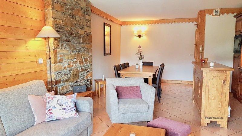 LA PLAGNE -  Appartement 3 chambres, ski au pied, Résidence 4* avec piscine, alquiler de vacaciones en Plagne Bellecote