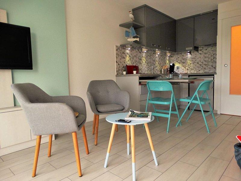 Studio face au Jaunay & à 450 m de la Grande Plage, alquiler de vacaciones en Saint-Gilles-Croix-de-Vie