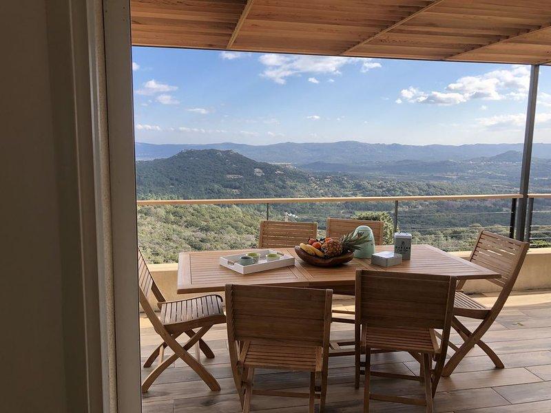 location villa 270m²sur 2 niveaux climatisée corse du sud a sotta avec piscine, vacation rental in Sotta