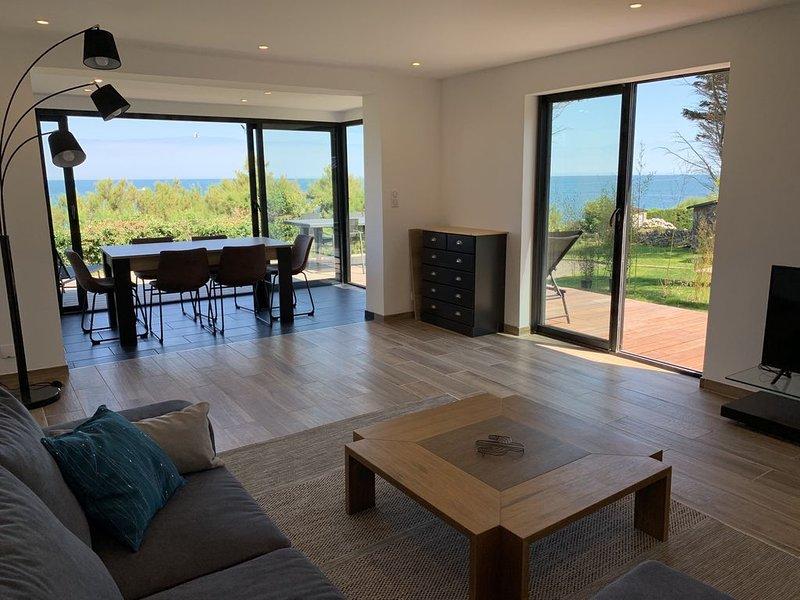 Location gîte bord de mer 3 chambres Le Becquet de Digosville - Cherbourg, location de vacances à Maupertus-sur-Mer