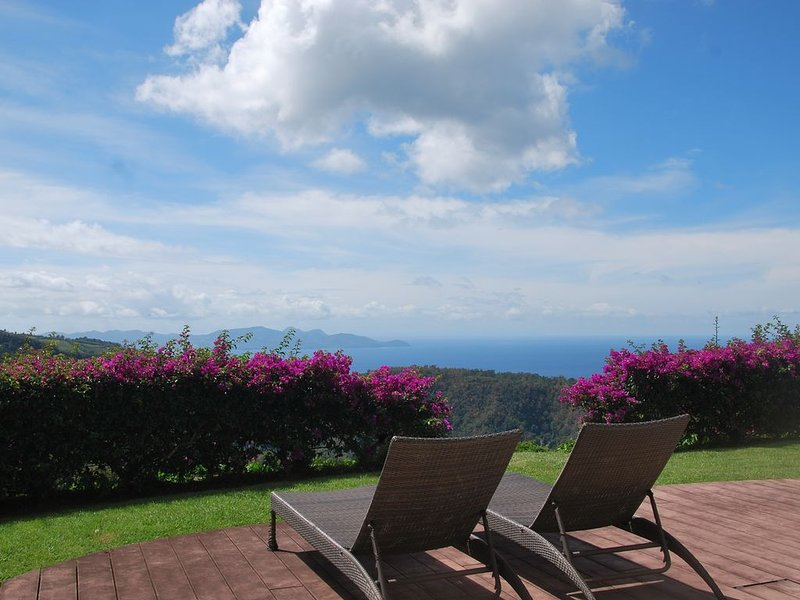 Vue exceptionnelle mer et montagne, alquiler de vacaciones en Martinica