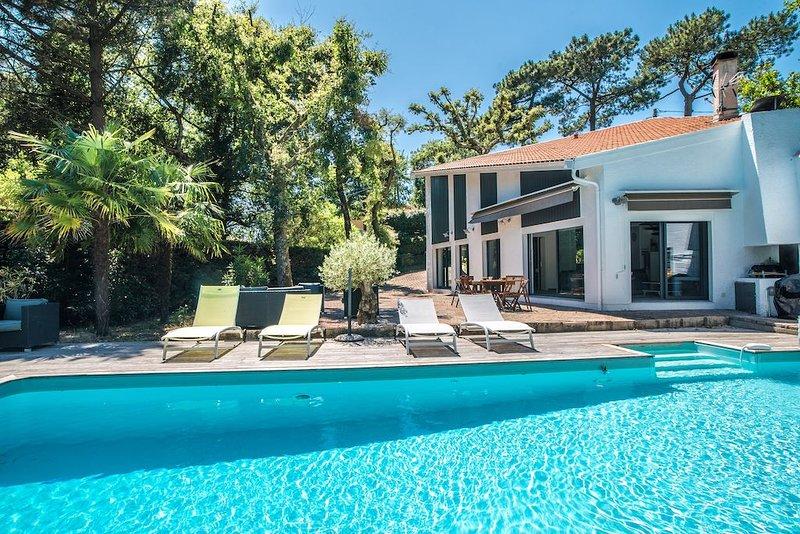Au calme absolu Villa d'architecte  6/8 pers - Piscine chauffée au Pyla, location de vacances à La Teste-de-Buch