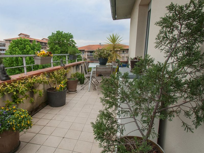 FLAMBERE - 80m2 - 2 chambres + parking + terrasse, holiday rental in Beauzelle