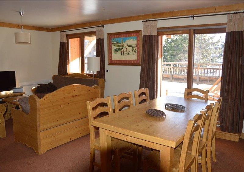 Appartement 85 M2 3 chambres 2 SDB terrasse 50M2 orientée Sud au pied des pistes, alquiler vacacional en Mont-de-Lans