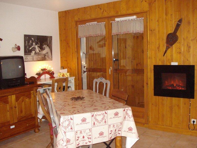 ESPACE/coin montagne 43m2 à 300M des pistes et du village, location de vacances à Praz Sur Arly