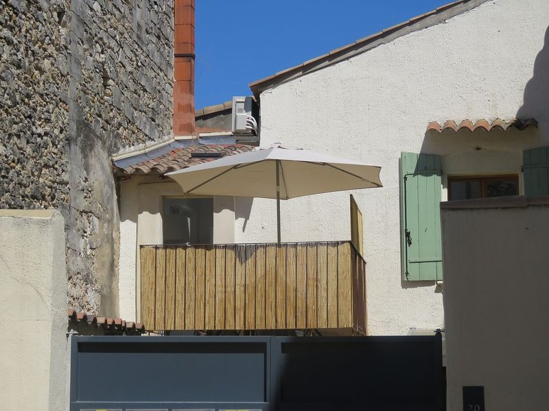Appartement centre historique avec Terrasse au porte de la Camargue, holiday rental in Albaron