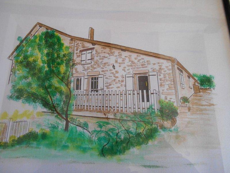 Charmante maison en pierres apparentes avec piscine privée , jacuzzi , wifi ..., location de vacances à Cubjac