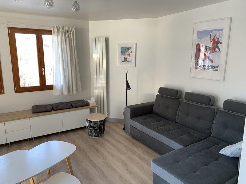 Appartement neuf 6/8 pers, 3 chambres, proche toutes commodités, location de vacances à Saint-Gervais-les-Bains