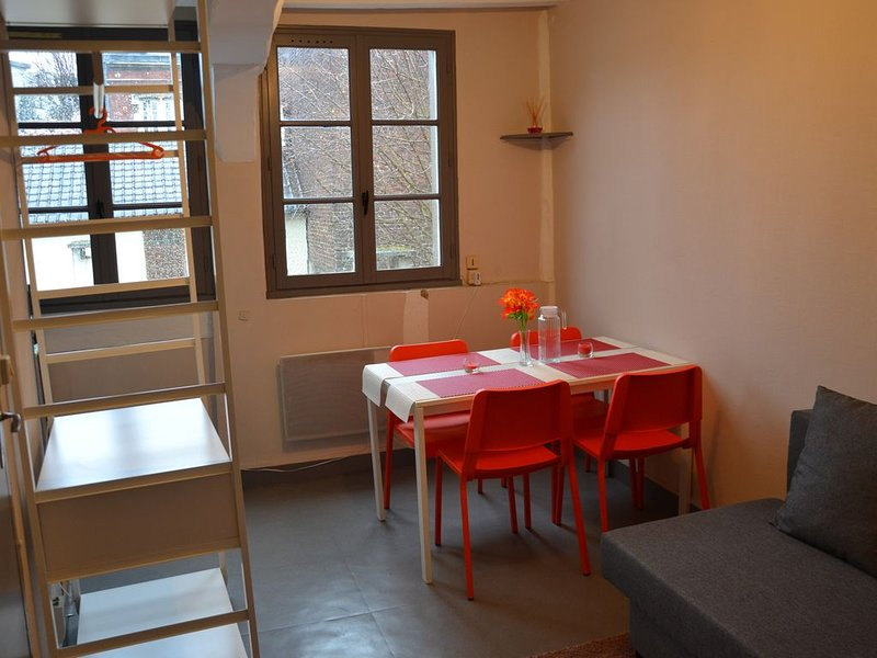 Studio cosy, centre ville, 5min à pied gare SNCF, holiday rental in Fontaine-le-Bourg